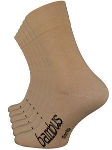 Vincent Creation® BAMBUS Socken 6 Paar 43-46 beige