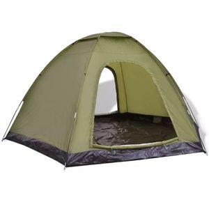 CampFeuer Tunnelzelt 6-Personen-Zelt Grün