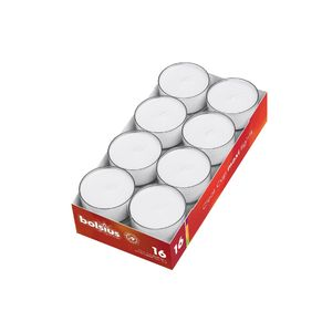 Bolsius PC-Cup Maxilichte 9h, weiß (16er Pack)