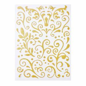 Creleo - Ornamente selbstklebend gold 67 Stück