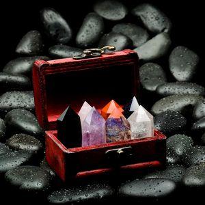 Edelsteine Kristallsteine Quarzmineral Stein Gesteinsproben mit 7 Mineral, Geschenk für Naturliebhaber