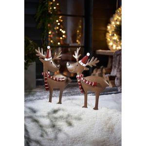 Gartenstecker-Set 2-tlg. Rentiere Weihnachtsdeko Outdoor XMAS L37 x B2,5 x H66 cm