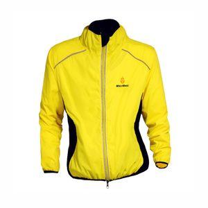 WOLFBIKE Radfahren Jersey Herren Fahrrad atmungsaktive Jacke Zyklus Kleidung lange ?rmel Wind Mantel gelb XL