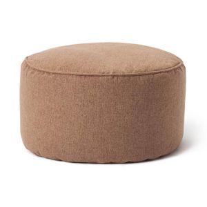 Lumaland Comfort Line Sitzsack-Hocker 25 x 45 cm - Indoor - mit extra starken Nähten, pflegeleicht - Runder Sitzpouf, Bodenkissen Bean Bag Pouf - Braun