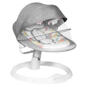 COSTWAY Babywippe mit 5 Schaukelpositionen und Musik, Baby Schaukelstuhl mit Timing- und Bluetoothfunktion, inkl. Spielzeug, Sicherhitsgurt, abnehmbares Verdeck und Moskitonetz