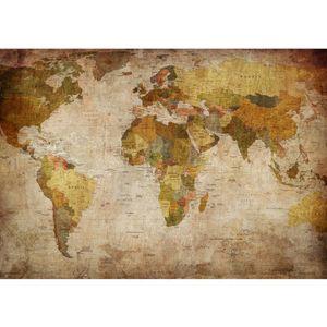 Fototapete Vintage Atlas Welt Tapete Weltkarte Antik Atlaskarte Atlanten Karte alte Karte alter Atlas braun   no. 29, Größe:200x140 cm, Material:Fototapete Vlies - PREMIUM PLUS