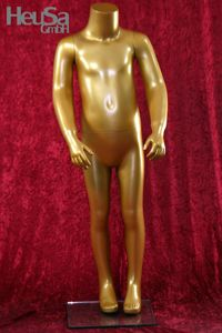 Kinder Schaufensterfigur Kind Schaufensterpuppe kopflos gold Mannequin
