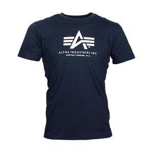 ALPHA INDUSTRIES Basic Tee Herren T-Shirt  Navy, Größe:XL