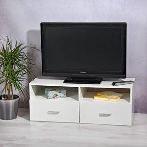 Lowboard Fernsehtisch Schrank Board Möbel Weiß Fernsehschrank Tisch Unterschrank TV Fernseher Aufbewahrung Beistellschrank Ablage Rack Neu