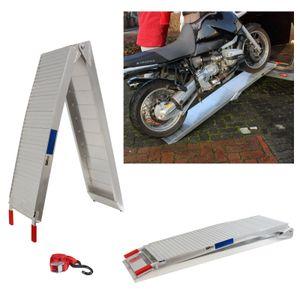 TrutzHolm® Alu Auffahrrampe Rampe 340 kg CS klappbar Lamellenstruktur Motorradrampe Verladerampe