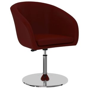 Esszimmerstuhl HOMMIE - Bürostuhl Sessel Weinrot Kunstleder ,Gesamtmaße:61 x 58 x (67-77) cm♬4995