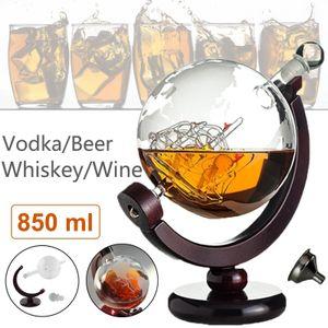 Meco 850ML Eleganter Whisky Tequila Brandy Glas Dekanter Set Glasflasche Bar Set Dispenser