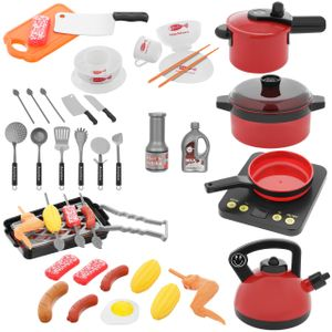Kinder Kochen Lebensmittel Spielzeug Topf- und Küchengeräte Koch Rollenspiel 44 Teile 11246