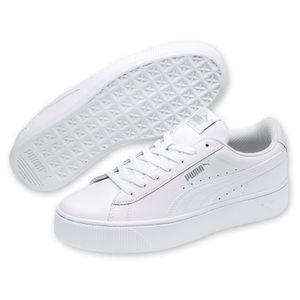 PUMA Vikky Stacked Damen Low Sneaker Weiss Schuhe, Größe:39
