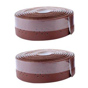 2 Stück Lenkerband , 2 Stück Bar End Plugs Farbe Braun