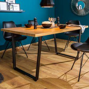 Design Esstisch LOFT 140cm Eiche mit Kufengestell Industrial Style Küchentisch Esszimmertisch