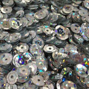 Oblique Unique 1400 Pailletten Konfetti gewölbt - silber Glitzereffekt