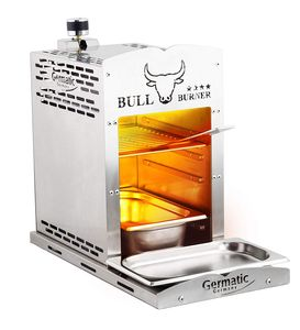 Steaker Gasgrill 800 Grad V2a Edelstahl rostfrei Germatic Bull Burner