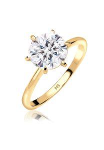 Elli Ring Verlobungsring Kristalle 925 Silber 52 mm Gold