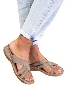 Damen Tangasandalen Gesunde Schuhe Freizeitschuhe Atmungsaktiv,Farbe:Mousy,Größe:41