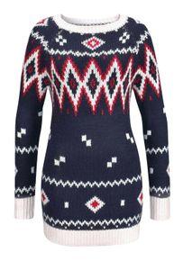 Kangaroos Damen Marken-Norweger-Pullover, marine-bunt, Größe:32/34