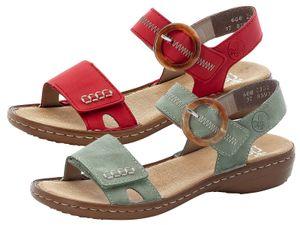 Rieker Damen Sandalen Sandaletten 608Z3, Größe:37 EU, Farbe:Rot