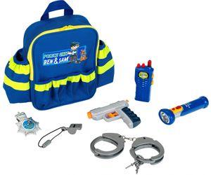 """Kinderrucksack Polizei """"Ben & Sam"""" mit Licht + Wasserpistole + Handschellen 8802"""