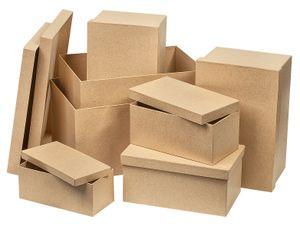 """VBS Pappschachtelsatz """"Rechteck"""" 7er-Set, von 29,5x21x15,5cm bis 18x9x7cm"""