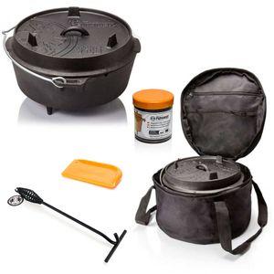 Petromax Feuertopf Starterset ft6 mit Tasche inkl. Deckelheber Schaber Einbrennpaste Dutch Oven