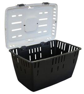 Hundetransportbox Katzentransportbox Kleintiertransportbox DAKOTA anthrazit-weiss