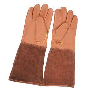 1 Paar Gartenhandschuhe aus Leder Größe S