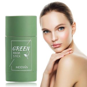 Grüner Tee Purifying Stick Mask Ölkontrolle Anti-Akne Aubergine Solid Fine WHZ210114001GN