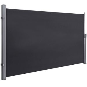 SONGMICS Alu-Seitenmarkise, aus Polyester (280 g/m²), 180 × 350cm ausziehbar wasserdicht verdickter Polyester für Balkon Terrasse Sichtschutz Sonnenschutz Seitenrollo GSA185G