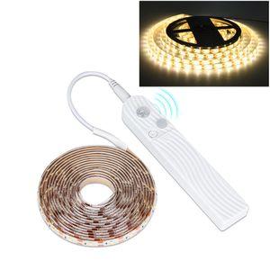 3m LED Streifen PIR Bewegungssensor Lichtband Batteriebetrieben Schrankbeleuchtung, Warmweiß
