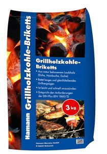 3 kg Grill Brikett Grillbriketts Holzkohlegrillbriketts Grillkohle