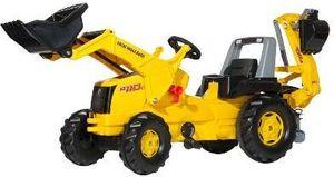 rolly toys Junior NH Construction Trettraktor mit Heckbagger, Maße: 164,5x53x76 cm; 81 311 7