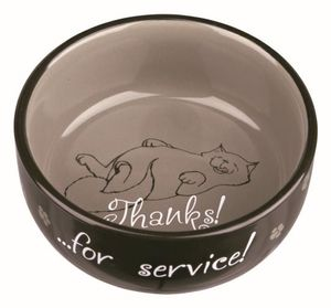 Trixie 24793 Keramiknapf, Katze, Thanks for Service, 0,3 l/d= 11 cm