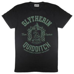 Harry Potter - Slytherin T-Shirt für Damen PG798 (2XL) (Schwarz)