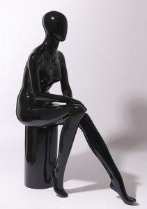 """XF17-H schöne abstrakte schwarz Glanz lackierte Schaufensterpuppe weiblich """"ohne Gesicht"""""""