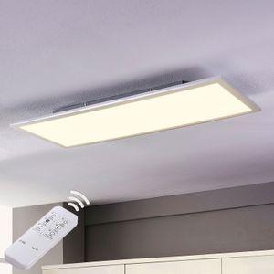 Lindby LED Deckenpanel (LED Deckenleuchte) 'Livel' dimmbar mit Fernbedienung (Modern) in Weiß u.a. für Küche (1 flammig,, inkl. Leuchtmittel) - Panel LED-Panel Lampe, LED-Deckenlampe