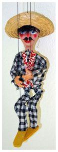 Marionette aus Mexiko. Handarbeit, ca. 38cm hoch. ID19093