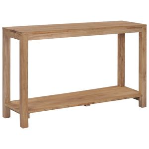 vidaXL Konsolentisch 120×35×75 cm Teak Massivholz