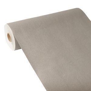 Papstar Tischläufer, stoffähnlich, PV-Tissue Mix ROYAL Collection 24 m x 40 cm grau 84974