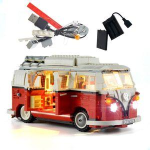 Volkswagen T1 Licht-Beleuchtung Set Für Creator Reisemobil Modell Kompatibel Mit Lego Bausteine Spielzeug Nicht Das Modell Set