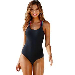 Einteilige einteilige Badeanzug Push-ups Strumpfhosen Overall Badeanzug Damen -(Körperanzüge,XL)