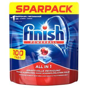 Finish All in 1 Sparpack Spülmaschinentabs Geschirrspüler Reinigung 100 Tabs