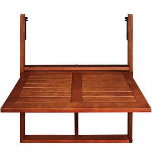 Casaria Balkontisch Hängetisch klappbar Akazienholz FSC® zertifiziert 64x45x87cm Balkonhängetisch Balkon Tisch hängend