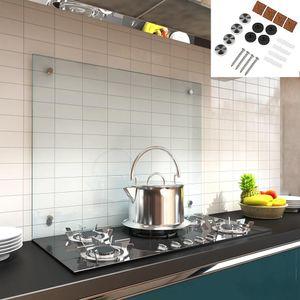 90x50CM Küchenrückwand aus Glas Spritzschutz Fliesenspiegel Küchen Wandschutz