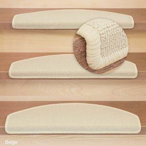 Metzker Stufenmatten Ariston | Halbrund 65x24cm Trittfläche | Beige 15 Stück