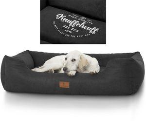 Knuffelwuff bedrucktes Hundebett The best Dog, Modell: Mira XXL 120 x 85cm Schwarz